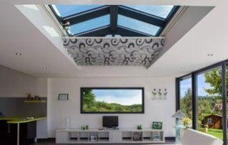 les stores pour v randa toiture plate. Black Bedroom Furniture Sets. Home Design Ideas