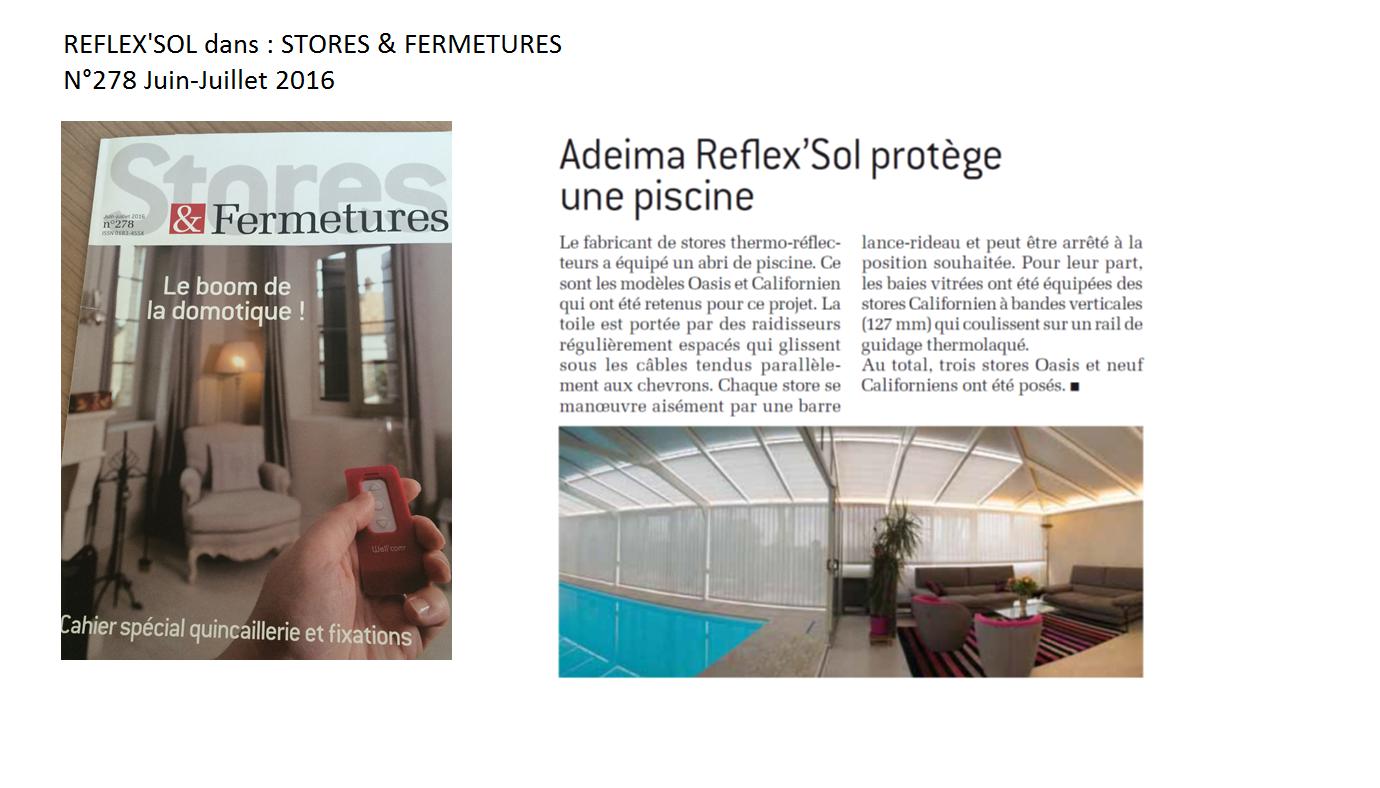 reflex 39 sol dans stores fermetures juin juillet 2016. Black Bedroom Furniture Sets. Home Design Ideas